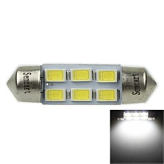 36mm (sv8.5-8) 3w 6x5730smd 180-220lm 6000-6500K wit licht led lamp voor auto leeslamp (ac12-16v)