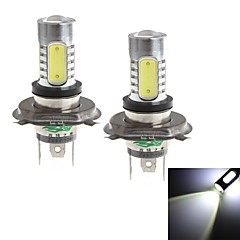 h4 20w 1900lm 6000-6500k hvitt lys pære for bil tåkelys (12-24V, 2 stk)