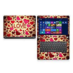 """kærlighed mønster laptop beskyttende hud sticker til 14 """"bærbar"""