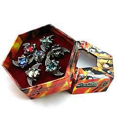 Ékszerek Ihlette Újjászületve! Szerepjáték Anime Szerepjáték Kiegészítők gyűrű Piros / Kék / Zöld / Ezüst Ötvözet / Mesterséges ékkövek