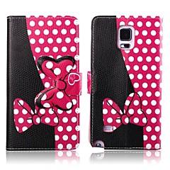 Welle Punkt-Muster PU-Leder Ganzkörper-Case mit Ständer für Samsung Galaxy Note 4