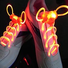 largo brillante destello de flash lento impermeable rojo cordón led (1 par)