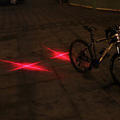 UNGROL Double Red Cross Design 1 Laser Module 6 LED 6 Flash Mode Black Bike Warning Laser Light