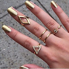 Women's European And American  Fashion  Triangle Ring(5Pcs)