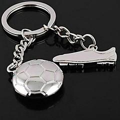 gepersonaliseerde legering voetbal en schoenen patroon sleutelhanger