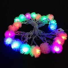 Plush Ball 5M 4.8W Christmas Flash 20-LED RGB Light Strip Light Lamp (EU Plug , AC 110-220V)