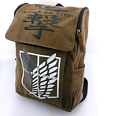 Bag Inspired by Attack on Titan Cosplay Anime Cosplay Accessories Bag / Backpack Brown Nylon Male / Female