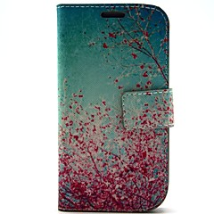 Bright Cherry Tree Pattern PU Leather with Case and Card Slot for S3 I9300