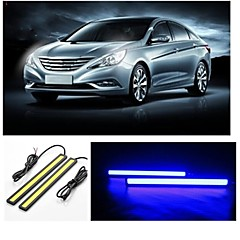 2pcs 14cm 7W 600-700LM Daytime Running light Blue Color High Power COB DRL Waterproof IP68 Daylight(12V)