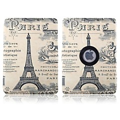 Letters and Paris Tower Pattern 360 Degree Rotation PU Leather Full Body Case with Stand for iPad 2/3/4