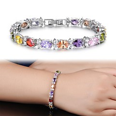 AAA Zircon Fine Plating Platinum Diamond Bracelet