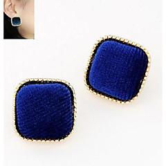 European Style Fashion Wild Sweet Delicate OL Temperament Square Earrings