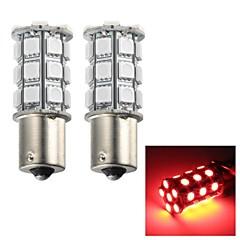 merdia 5W 115lm 1156 27x5050smd a mené la lumière rouge clignotant / feu stop / feu antibrouillard (2 pièces / 12v)