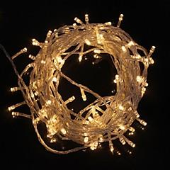 z®zdm 10 m 9,6 wattů vánoční blesk 100 vedená teplé bílé / chladné bílé světlo proužek světla lampy (EU zásuvka, ac 220v)
