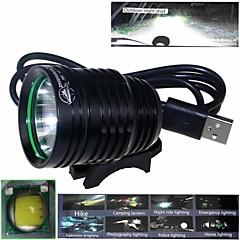 zhishunjia vanntett 3-modus 1xcree xm-l2 u2 høy effekt sykkel lampe (900lm, usb 5v, svart)