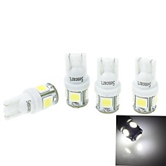 4 Pcs T10(149 168 W5W)2.5W 5X5054SMD 160-180LM 6000-6500K  White Light for Car Lndicator (DC12-16V)