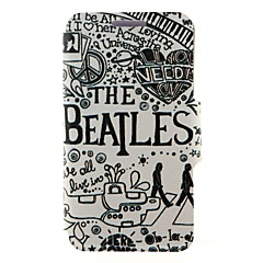 Kinston the Beatles Pattern PU Leather Full Body Case with Stand for iPhone 4/4S