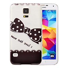 Black Bow-tie Pattern PC Brushed Case for Samsung Galaxy S5 I9600