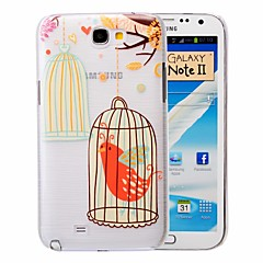 Cartoon Pet Bird Pattern PC Brushed Case for Samsung Galaxy Note 2 N7100