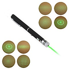 LT-012 Pen Shape 5-Patterns Green Light Laser Pointer(3Mw.532nm.2XAAA.Black)