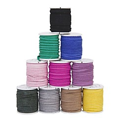 DIY Leather Jewellery Rope Mixed Color(10Pcs)