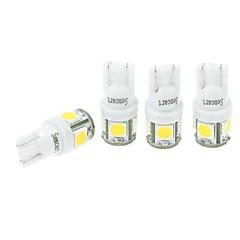 4 kpl T10 (149 168 W5W) 2.5W 5x5054smd 160-180lm 3000-3500k lämpimän valkoista valoa auton lndicator (dc12-16v)