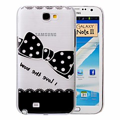 Black Bow-tie Pattern PC Brushed Case for Samsung Galaxy Note 2 N7100