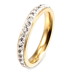 Ring,Band Rings,Jewelry Stainless Steel Party / Daily / Casual Gold7 / 8 / 9 Women