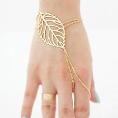 European Style Golden Leaves Charm Ring Bracelets
