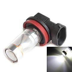 hj h11 30w 2600lm 6000-6500k 6x2835 SMD leds branco bulbo de luz para luz de nevoeiro carro (12-24V, 1 peça)