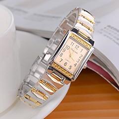 שעון צמיד קוורץ אנלוגי סגסוגת סגנון האופנתי של נשים (צבעים שונים)