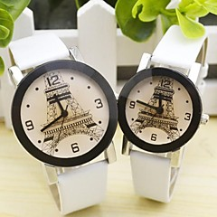 Couple's Leisure Leather Strap Circular Quartz Watch(Assorted Colors) Cool Watches Unique Watches