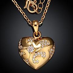 Luxury AAA Zircon Ms Plating 24K Gold Necklace Exquisite Gift