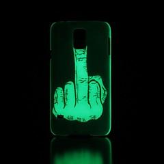 käsi kuvio loistaa pimeässä kova suojakotelo Samsung Galaxy S5
