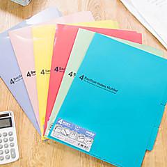 Soft Surface Candy Color A4 Folder(Random Shipping)