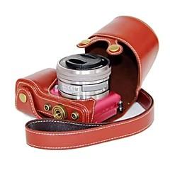 pajiatu® pu lederen camera beschermende case tas hoes voor sony alpha A5000 ilce-5000 a5100 ilce-5100 nex-3n
