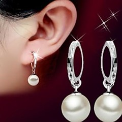 925 Pearl Flower Drop Earrings