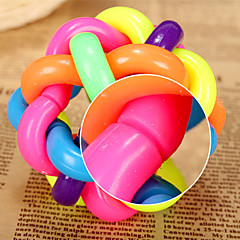 uzwojenie żuć gumy wielokolorowy piłkę z dzwonkiem dla zwierząt