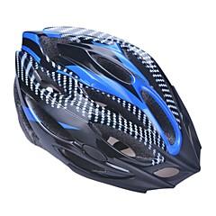 unisex mode en high-ademend pvc + EPP fiets helm met afneembare zonneklep (21vents) - licht blauw + zwart