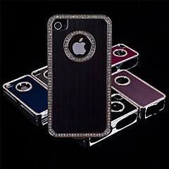geborsteld aluminium diamant kader Case voor de iPhone 4 / 4s (verschillende kleuren)