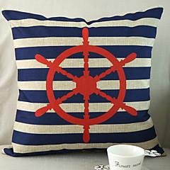 1 szt Cotton / Linen Pokrywa Pillow,Żeglarskie Styl plażowy