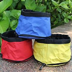 tazón plegable conveniente para perros mascotas color al azar