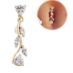 Naisten Kehokorut Navel & Bell Button Rings Zirkoni Cubic Zirkonia Heart Shape Kultainen Korut Päivittäin Kausaliteetti Joululahjat