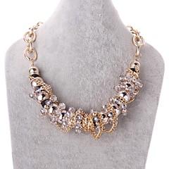 mode och personlighet ms 18k guldplätering kristall halsband