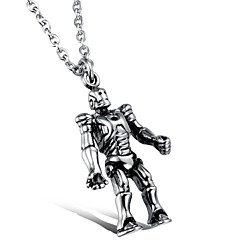 Personality Robot Titanium Steel Man Necklace Christmas Gifts