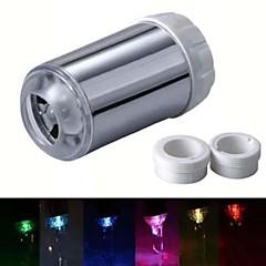 rc-f06 estilo corriente de agua colorido luminoso luz del grifo de luz LED (de plástico, acabado en cromo)