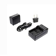 ismartdigi-JVC vf823u (2250mah, 7.4V) kamerabatteri + eu plugg + billaddare för JVC GZ-HM1 400 85 / mg830 575 / bn-vf823 815 808
