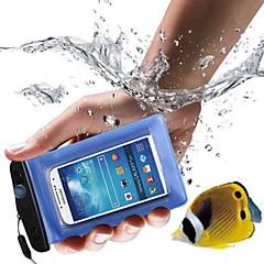 pvc caso 10m impermeabile del telefono subacqueo sacchetto del sacchetto asciutto per il iphone 4 / 4s / 5 / 5s / 5c / 6/6 plus e altri (blu)