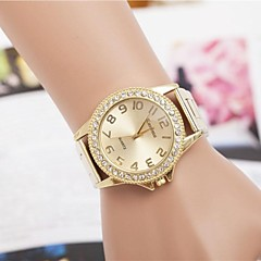 Women's Fashion Rhinestones Numer Steel Belt Quartz Wrist Watch(Assorted Colors)