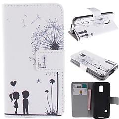 păpădie și proiectarea de iubitorii de pu caz corp plin cu stativ cu slot pentru card pentru Samsung Galaxy mini s5